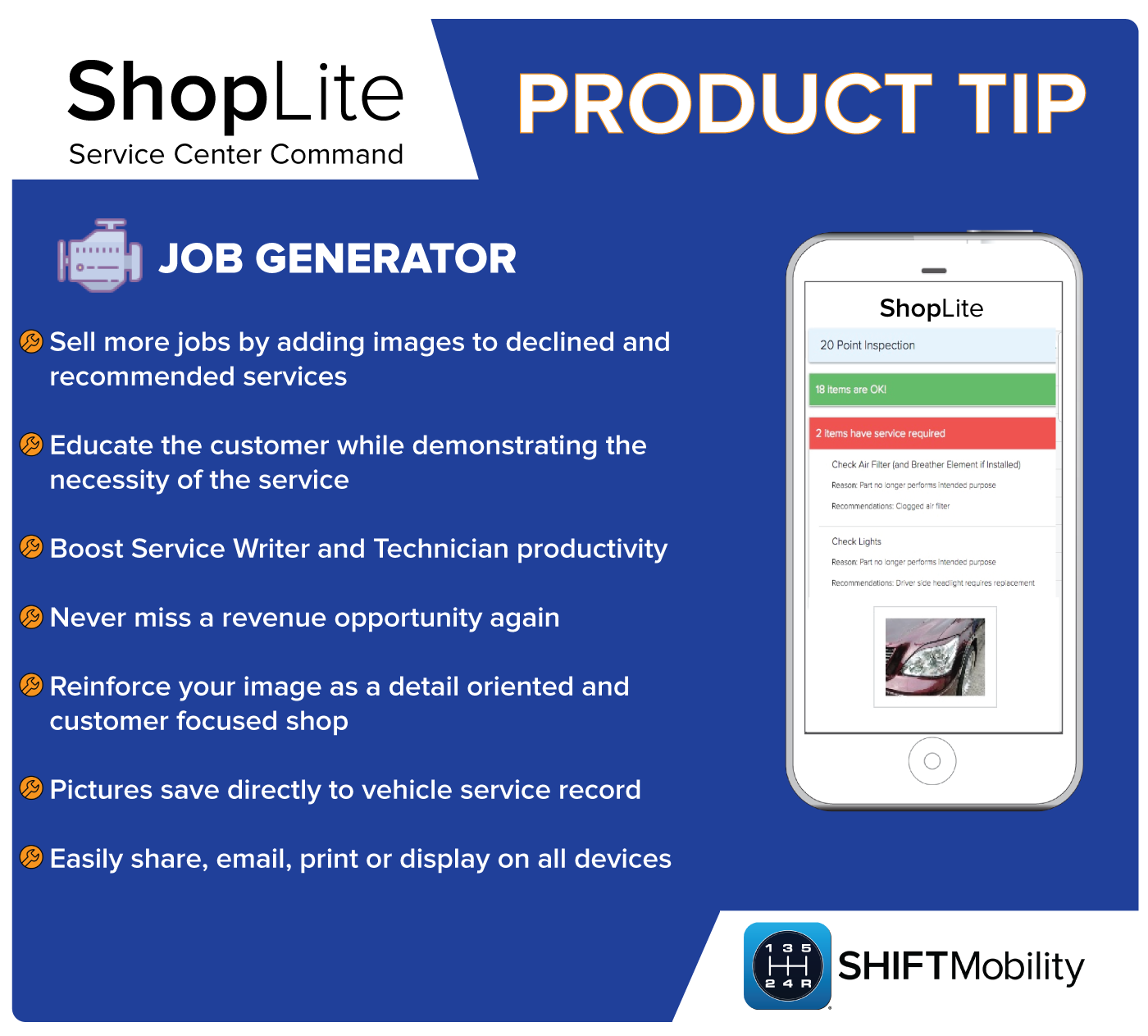 Product tip card job generator
